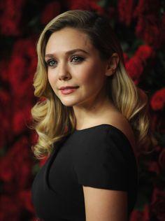 November 2011: Elizabeth Olsen with Hollywood waves.