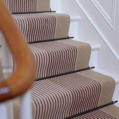 Striped stair runner Make an Entrance   Big Ideas for a Small Space - Steve likes but I'm not convinced yet