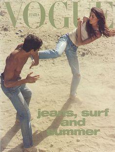 Gisele covers Vogue Italia June 1999, by Steven Meisel