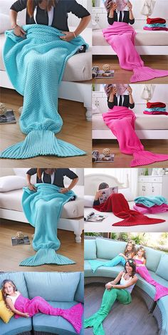 mermaid, mermaid blankets, blankets, sofa blankets, handmade blankets, crochet blankets, blue mermaid blankets
