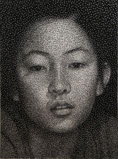 Portrait Made From a Single Thread Wrapped Around Thousands of Nails By Kumi Yamashita - Imgur