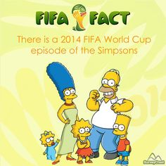 Did you know the popular #Simpsons series featured a #WorldCup2014 episode?  Like if you are a The Simpsons Fan!