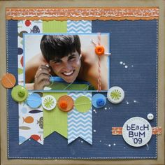 Two Scrapbook Friends: Olympic Challenge #10: Water, Water, Everywhere