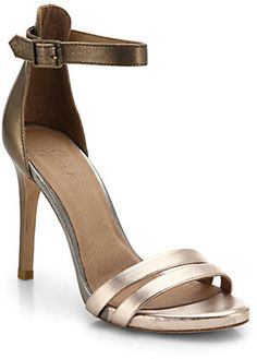 Joie Jenna Leather Ankle-Strap Sandals