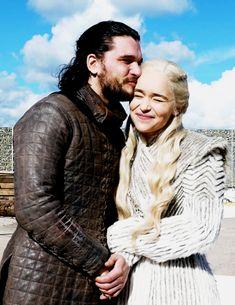 Jon & Daenerys (Kit Harington & Emilia Clarke) GoT S8