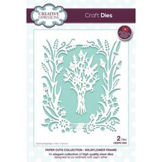 Craft Dies by Creative Expressions - Paper Cuts Collection - Wildflower Frame Step By Step Instructions, Paper Cutting, Wild Flowers, Craft Supplies, Frame, Creative, Crafts, Collection, Design