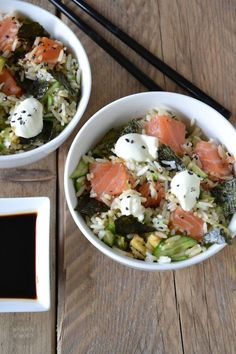 IN A BOWL a delicious and fast recipe by De pan van Pien I Love Food, Good Food, Yummy Food, Clean Eating, Healthy Eating, Easy Healthy Recipes, Asian Recipes, Fast Recipes, Poke Bol