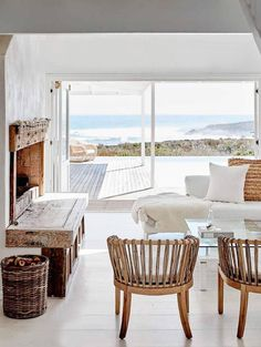 the perfect sophisticated, but still cozy, beach house decor.
