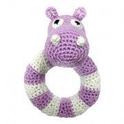 Crocket baby rattle, hippo