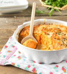 Puré de boniato y gruyère con leche de coco (Sweet potato puree with coconut milk & gruyere)