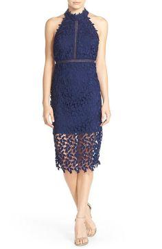 Bardot 'Gemma' Halter Lace Sheath Dress available at #Nordstrom