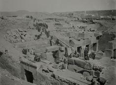 Excavations at Abydos, Egypt, circa 1910.