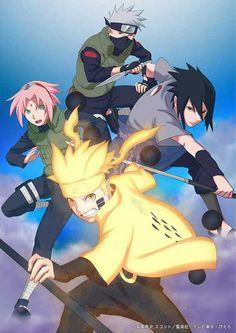 Naruto Sasuke Sakura And Kakashi Sensei