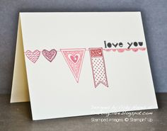 Lots of Stampin' Up sneak peeks here! Love the simple banners in the upcoming Language of Love set.