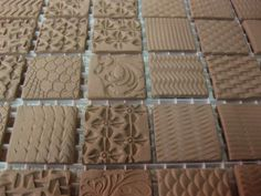 Gary Jackson-textured tile production 2 pre fired and pre glazed clay tiles for inspiration.