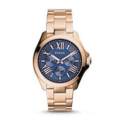 Cecile Multifunction Stainless Steel Watch - Rose from Fossil. Beautiful watch.