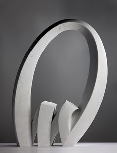 """""""TLD"""" 2010 in white Polvaccio marble by Julia Vance"""
