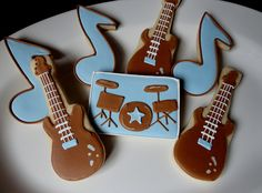 Rock Band Cookies