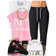 N°1 Queen HUSTLER, created by oh-aurora on Polyvore
