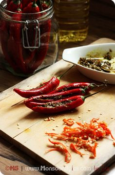 H.O.T! Can you handle the heat? Stuffed Red Chilli Pepper Pickle Recipe