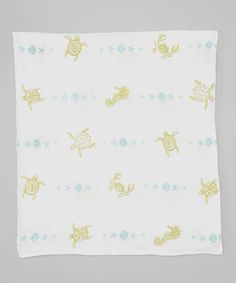 Love this 47'' x 47'' White Sea Creatures Organic Swaddling Blanket by Bambino Land on #zulily! #zulilyfinds