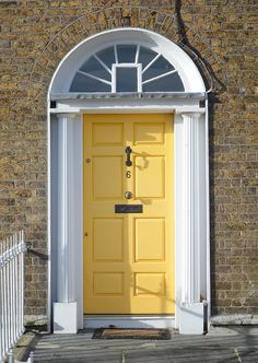 The door which located at the 6 Warrington Place, Dublin.
