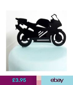 Baking Accs. & Cake Decorating Motorbike Cake Topper Decoration - Acrylic #ebay #Home & Garden