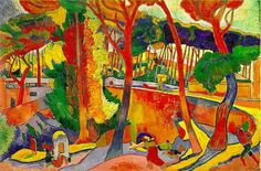 Andre Derain,	The Turning Road, L´Estaque, 1906 (Fauvism)