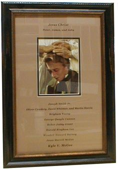 Priesthood Line of Authority framed--LOVE this