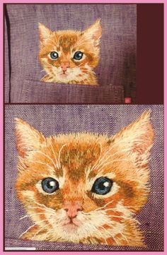 Chat brodé https://www.flickr.com/photos/hiroko-and-5/page1/