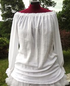 White Cotton Gauze Chemise - Renaissance/Medieval, perfect for festivals! on Etsy, Sold