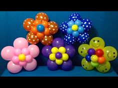 Dollar Store Balloon Décor! Easy Giant Flowers - YouTube