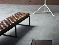 ZENITH BENCH Art Deco, Outdoor Furniture, Outdoor Decor, Bench, Unique, Leather, Vintage, Home Decor, Banquette Bench