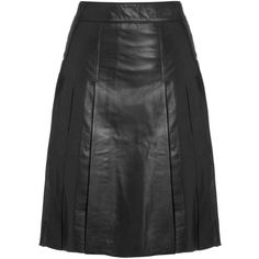 BLK DNM Jet Leather Skirt 8 ($520) found on Polyvore