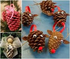 Pinecone Christmas Crafts these pine cone christmas ornaments are fun and inexpensive to make