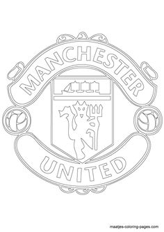 Manchester United soccer club logo coloring page