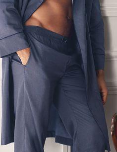 David Gandy for Autograph F W Pure cotton slim-fit dressing gown af7ec6563