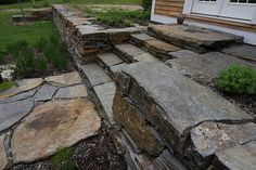 Stone Wall, Steps, and Patio, via Flickr.