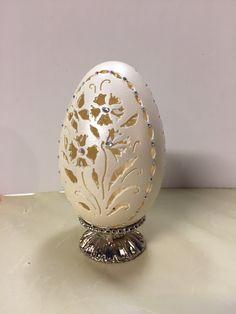 Carved goose egg