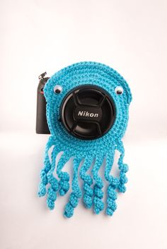 Large Octopus Camera Buddy Lens Critter by LookingGlassDesigns1