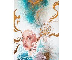 Portraitportrait girlOriginal paintinggirl with white | Etsy Oil Painting For Sale, Hair Painting, Paintings For Sale, Original Paintings, Elves Fantasy, Fantasy Girl, Girl Elf, Handmade Items, Handmade Gifts
