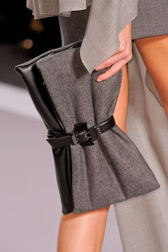 Belted clutch at Viktor & Rolf Fall 2014 - Best Runway Bags Paris Fashion Week Bags #PFW