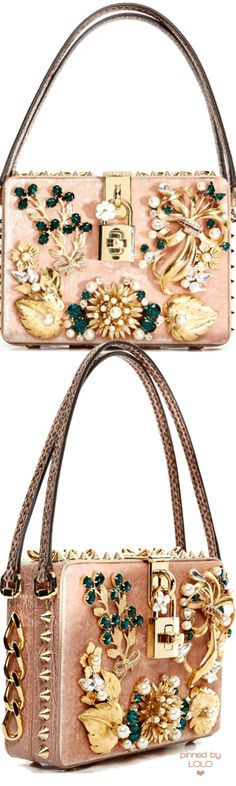 DOLCE & GABBANA Dolce Mama Box Embellished Bag    LOLO❤︎