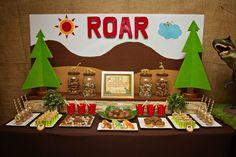 Dinosaur Roar 3rd Birthday Party: The Dessert Table