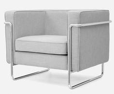 Le Bauhaus Armchair - Pearl Grey | Retro Europe
