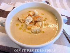 Con tu pan te lo comas: CREMA DE POLLO Chilean Recipes, Cuban Recipes, Soup Recipes, Spanish Recipes, Gaspacho Soup, Avocado Pasta, Soups And Stews, Cooking Time, Creme