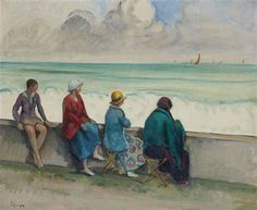 Artwork by Henri Lebasque, Gros temps à Morgat, Made of oil on canvas