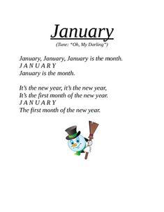 january calendar kindergarten songs classroom songs calendar songs