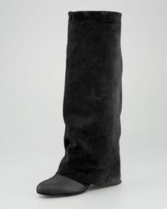 Chloe Fold-Over Suede Knee Boot... Come to Momma.