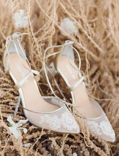 219ec4ed94 A Sweeping Periwinkle Gown Steals the Show in this Desert Elopement. Blue  Wedding ShoesLace Bridal ShoesWedding HeelsLow ...